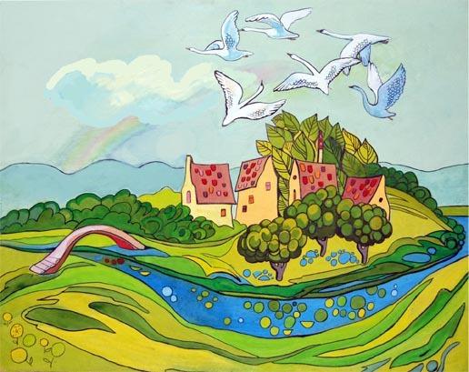 иллюстрации к сказке шесть лебедей выглядит муслин муслин
