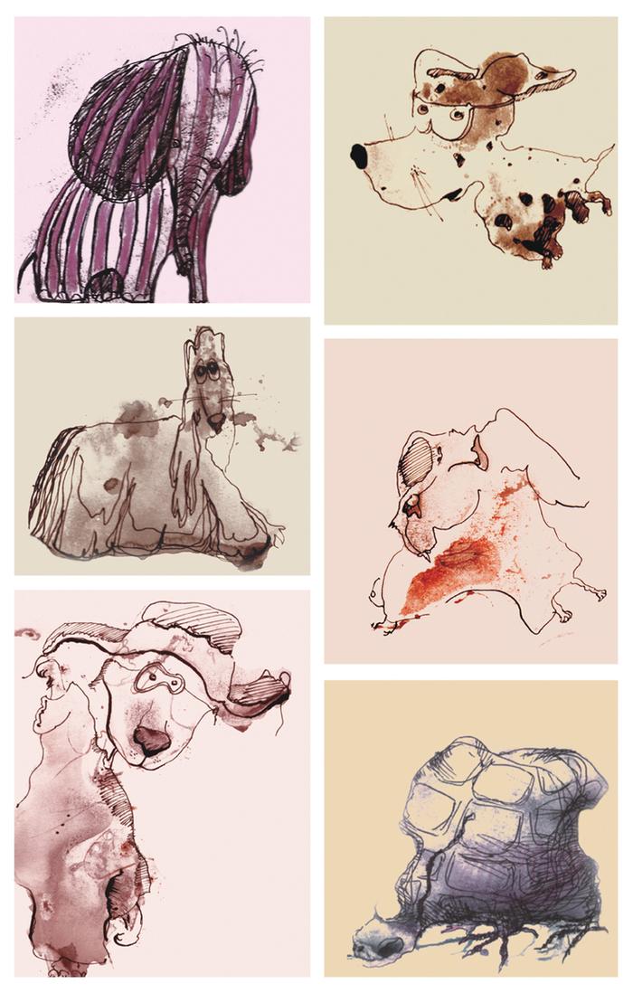 Рисунки животных в технике