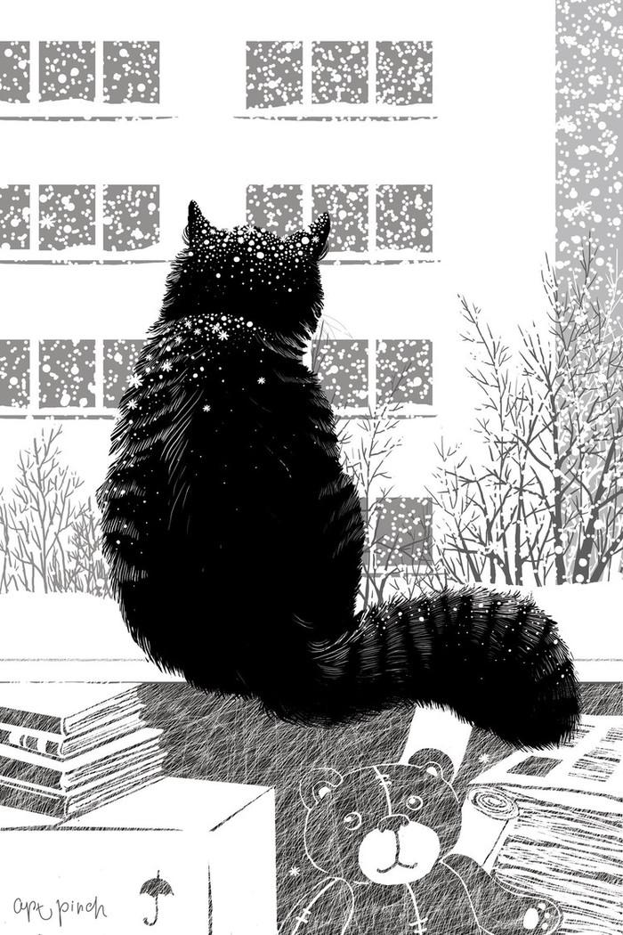 Анимация картинки первый снег