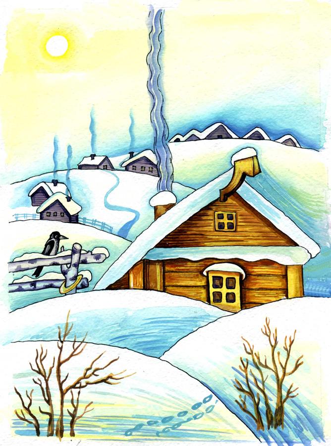 Утро зимняя картинки для детей