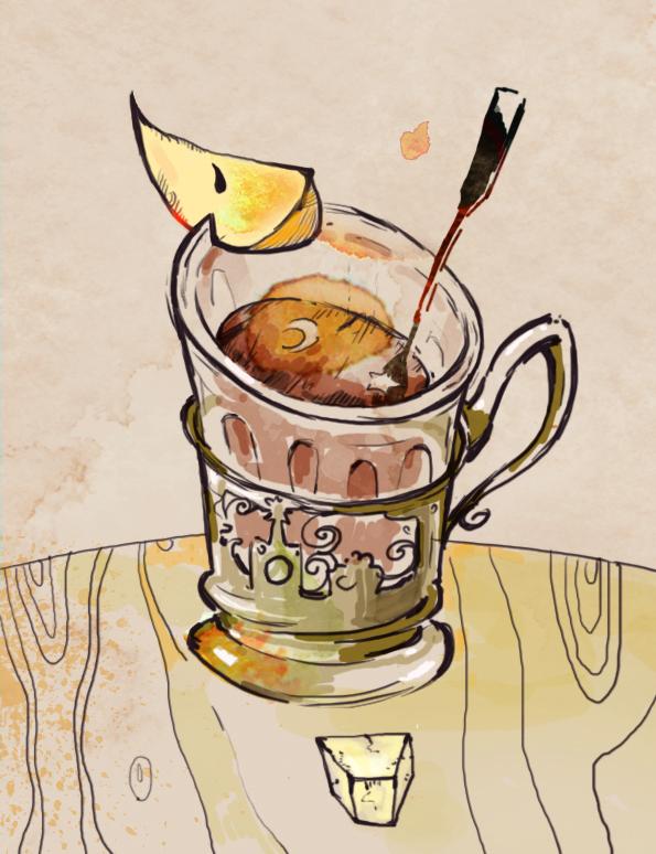 режется чашка чая смешная картинка какими бедами