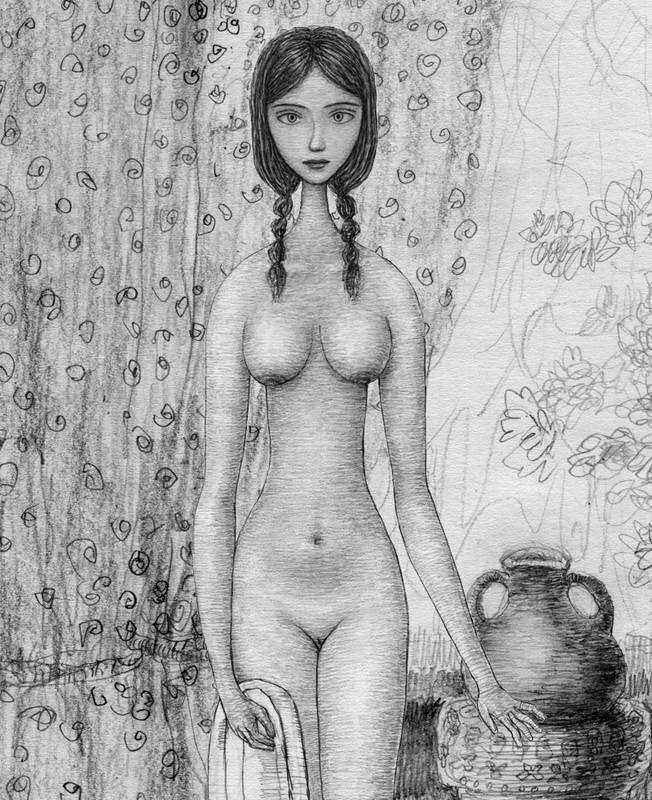 Рисунки баб голых фото