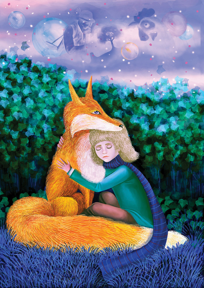 Картинка лис из маленького принца