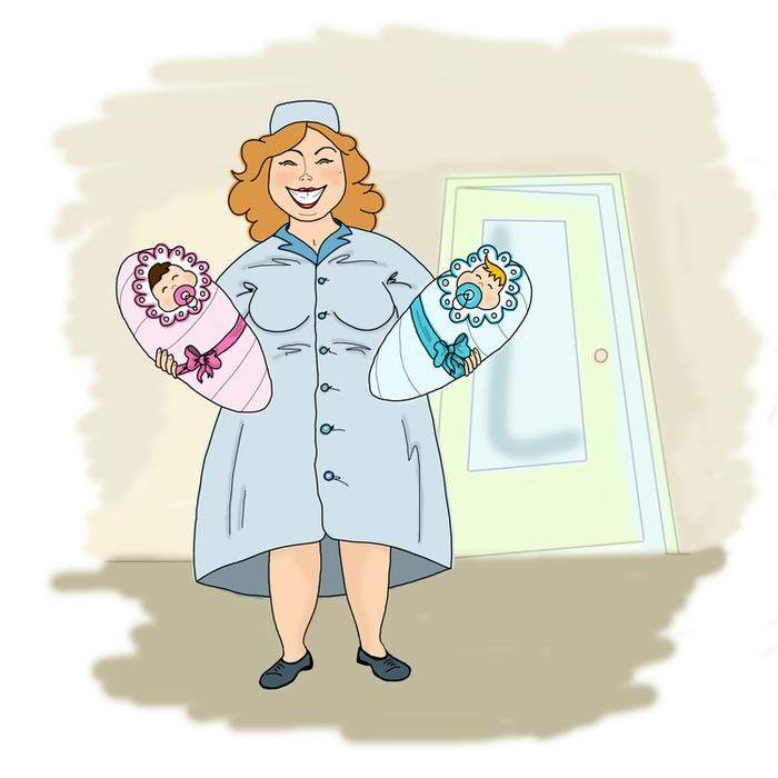 Открытка маме в роддоме