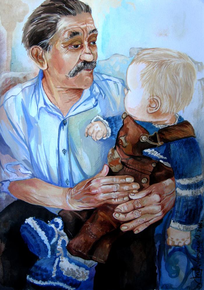 Рисунок к стиху дедушка