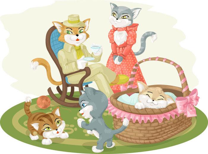 Семья котят картинки