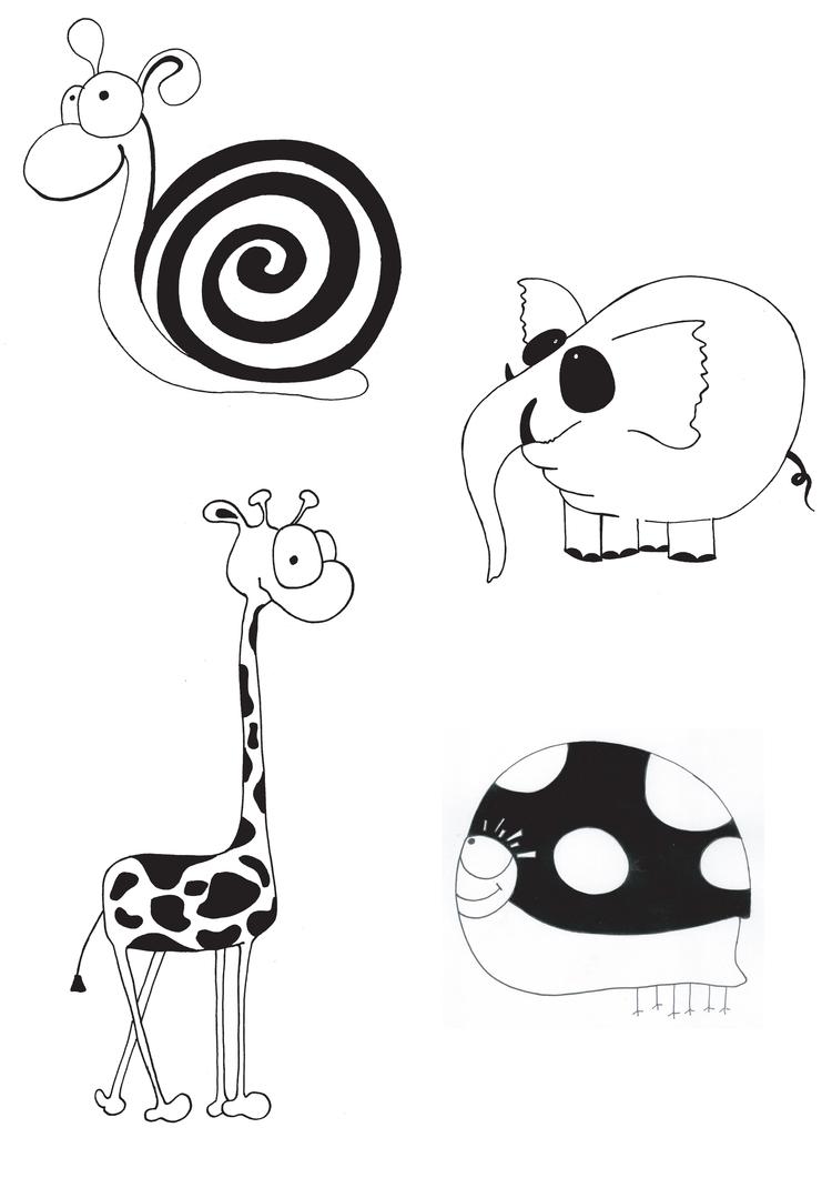 стилизованные рисунки:
