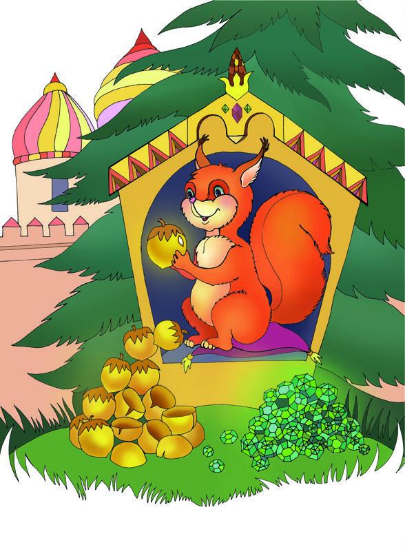 Картинка белочки к сказке о царе салтане