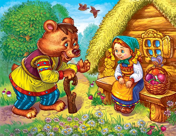 """Оригинал - Схема вышивки  """"Маша и медведь """" - Схемы автора  """"malkinaiv """" - Вышивка крестом."""