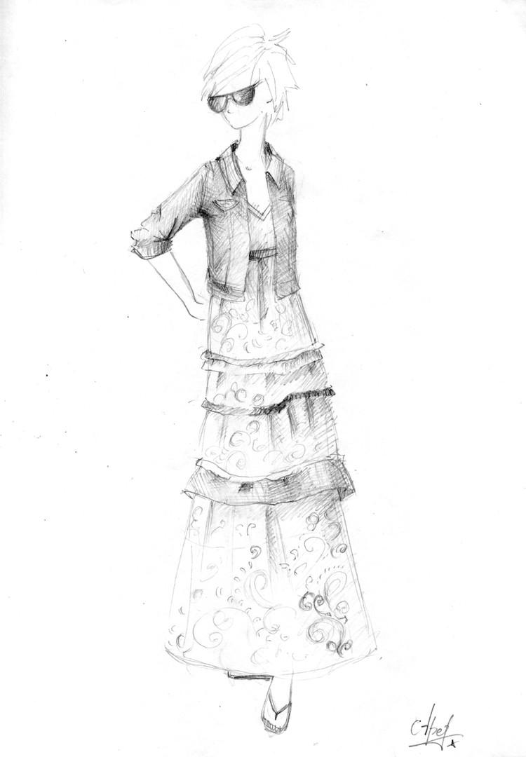фото невест в цветном платье