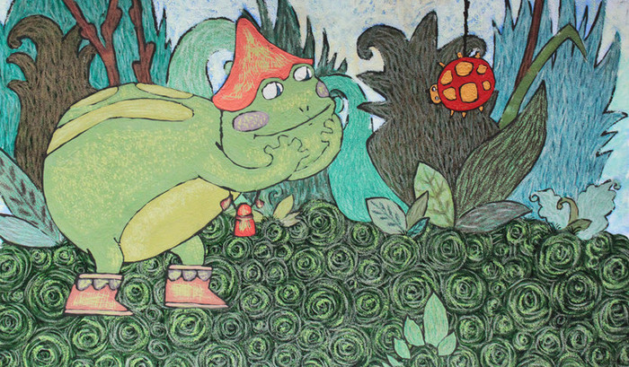 бесплатно картинки к сказке лягушка и муравей маккинни купальнике нижнем