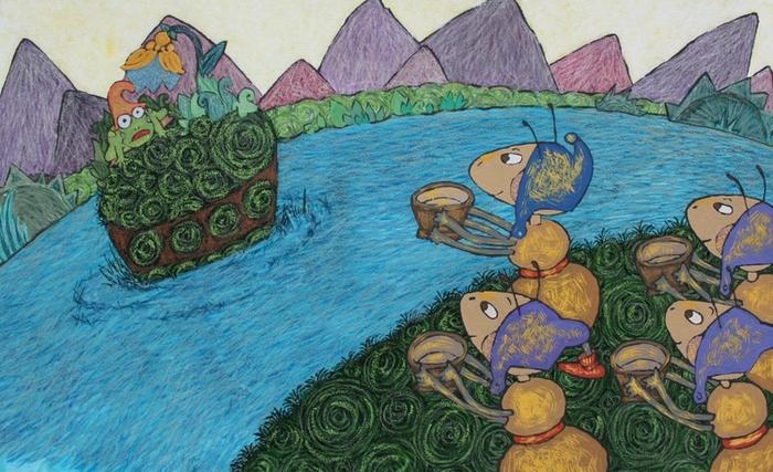 Картинки к сказке лягушка и муравей трудоёмкий способ