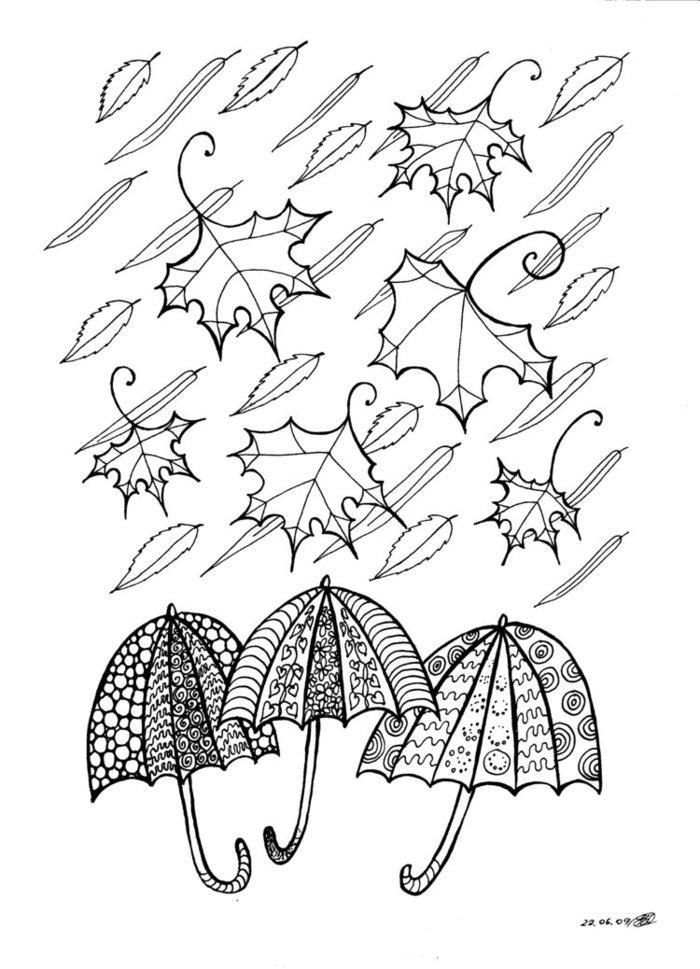 Картинки карандашом для срисовки про осень