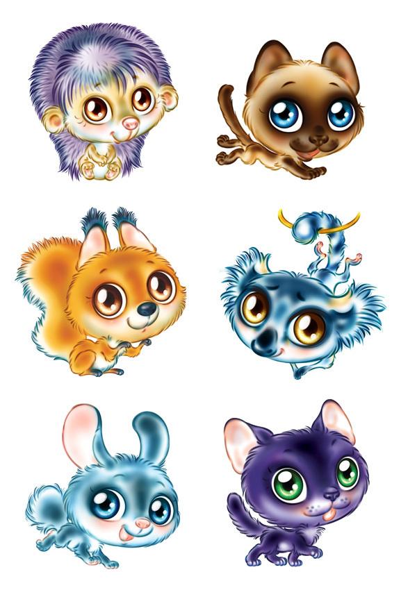Картинки с милыми зверюшками мультяшные