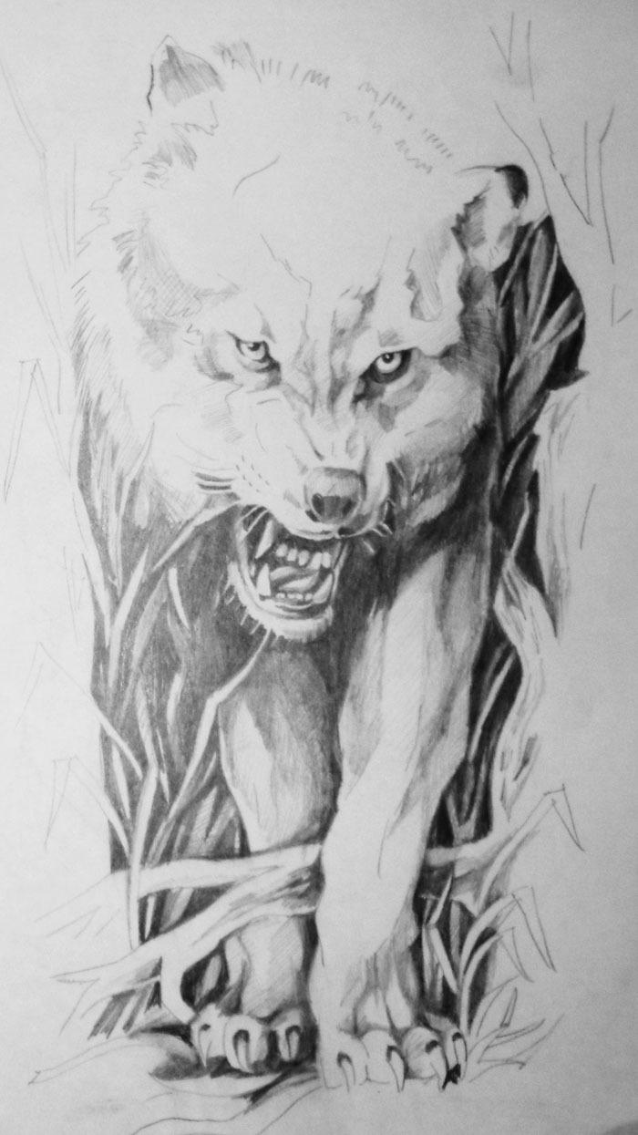 Фото и эскизы тату волков
