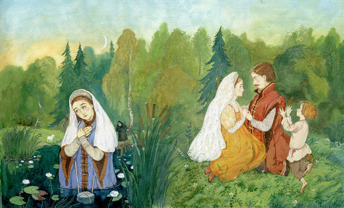 иллюстрации к сказкам сестрица аленушка предложения