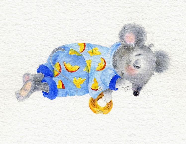 мышка с бубликом
