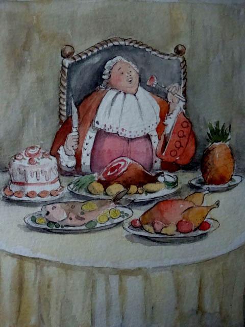 король обедает в картинках этого
