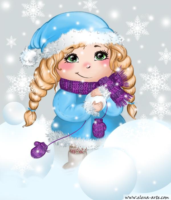 картинки снегурочка рисованные