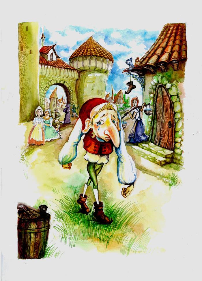 Картинка карлик нос из сказки
