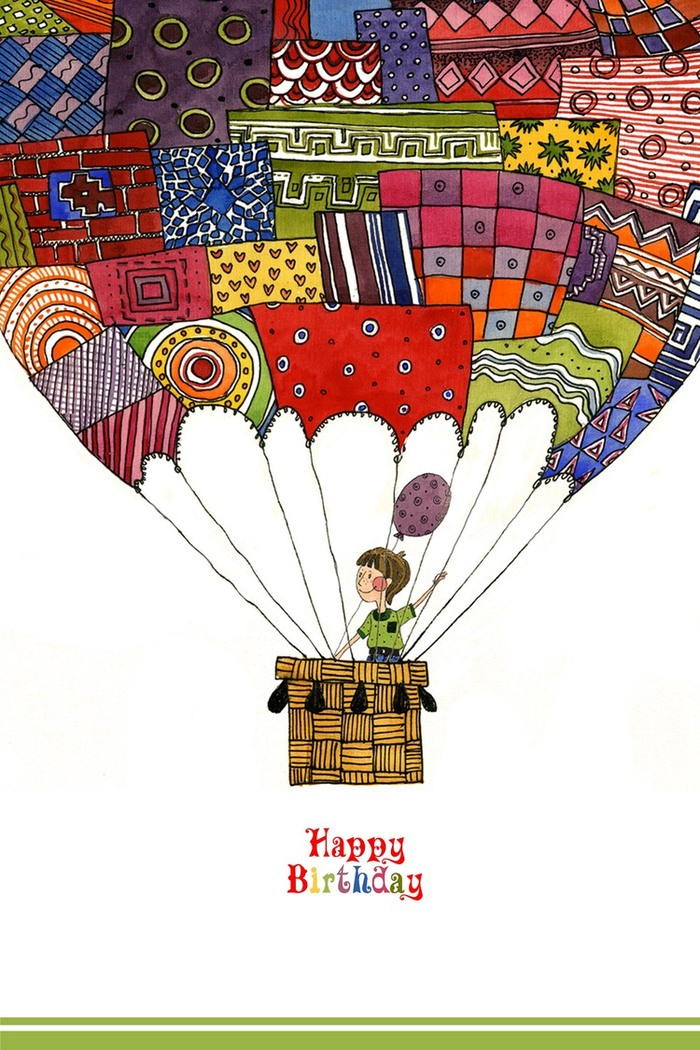 Графика открытка с днем рождения