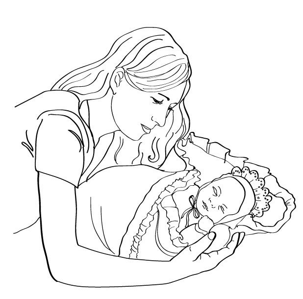 ребёнок карандашом мама и рисунок