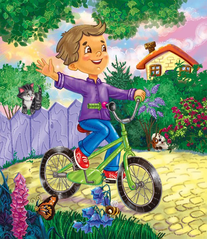 Картинки на велосипеде для детей, семьи