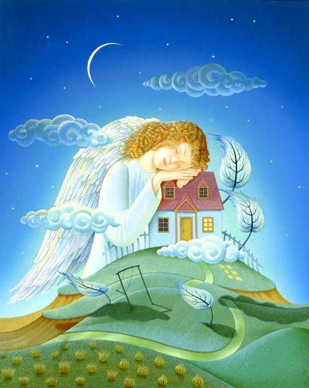 Открытки спящий ангел