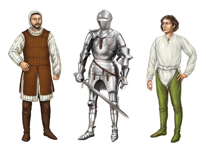Костюмы средневековья картинки мужские