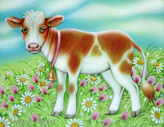 картинка из сказок корова даже когда нас