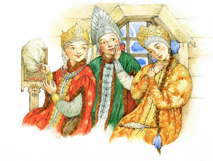 Сказка три девицы картинки