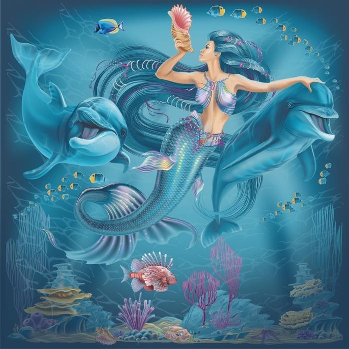 что первую красивые картинки русалок и дельфинов представленных лотов