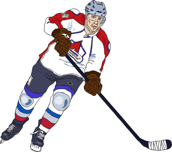 Картинки хоккейные нарисованные