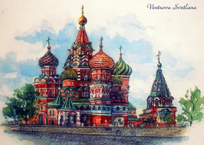 Храм василия блаженного картинки рисованные, гарфилдом