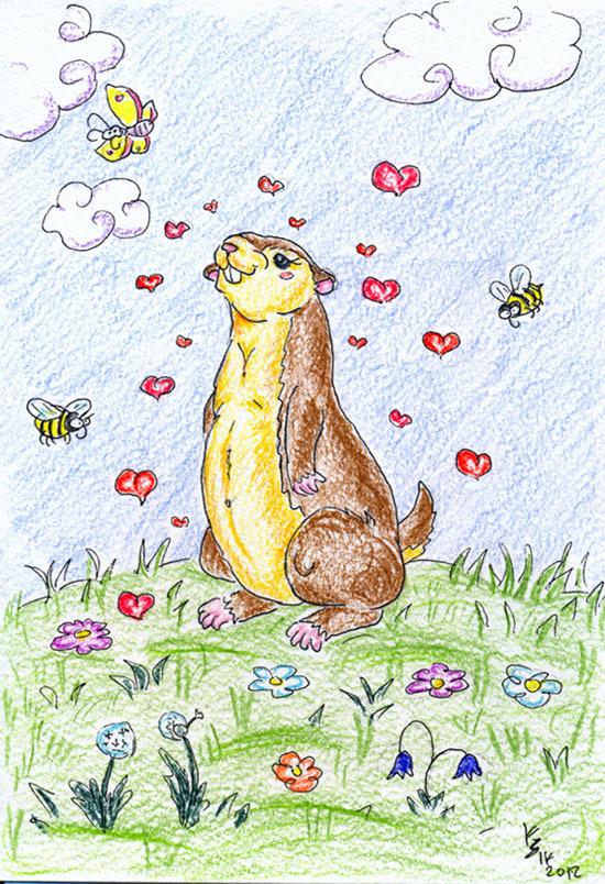 Картинки сурка для детей нарисованные, день пограничника