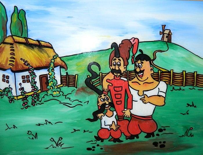 Самые прикольные, открытка козака