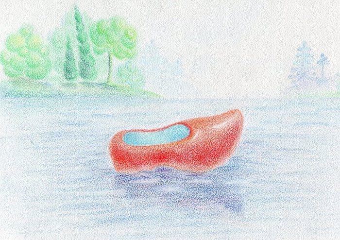 красные башмачки рисунок фото
