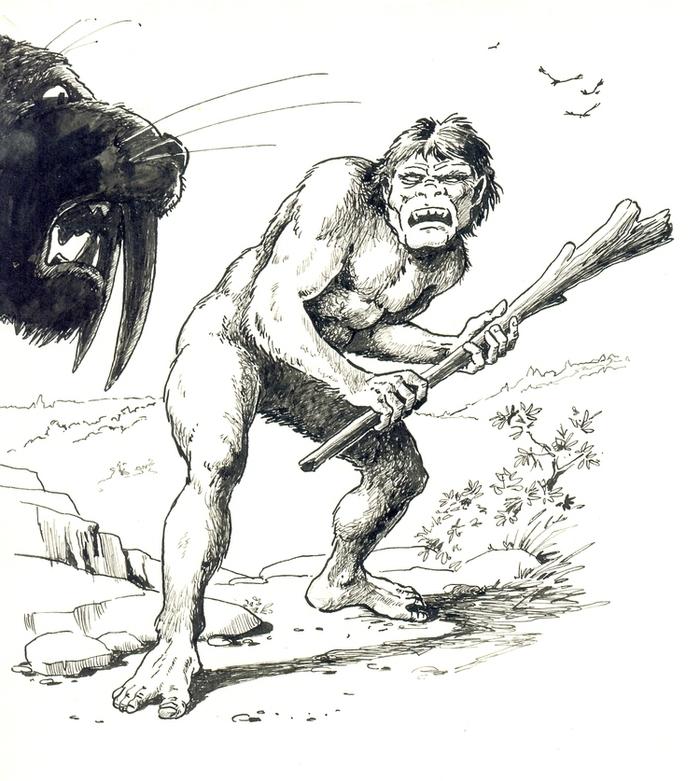 Рисунки из жизни первобытного человека