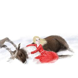 картинка герда из снежной королевы на прозрачном фоне фотографов