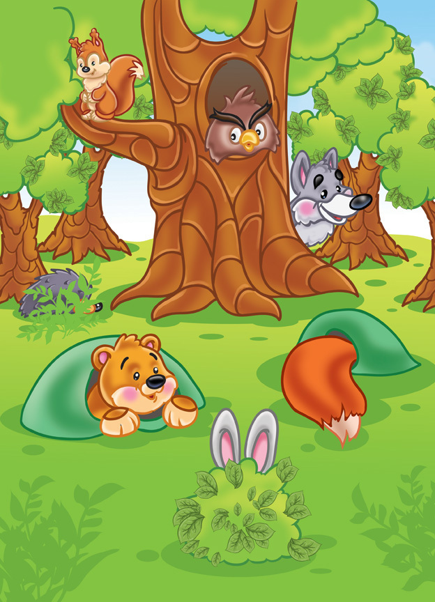 Надписью, лесные картинки для детей