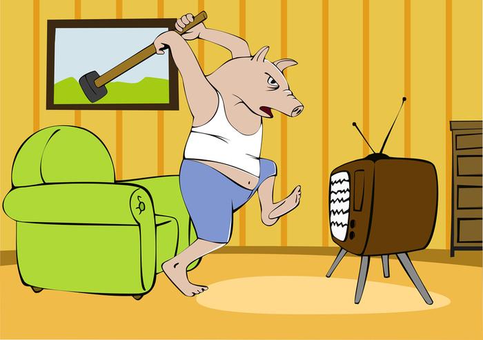 Днем, разбил телевизор смешные картинки