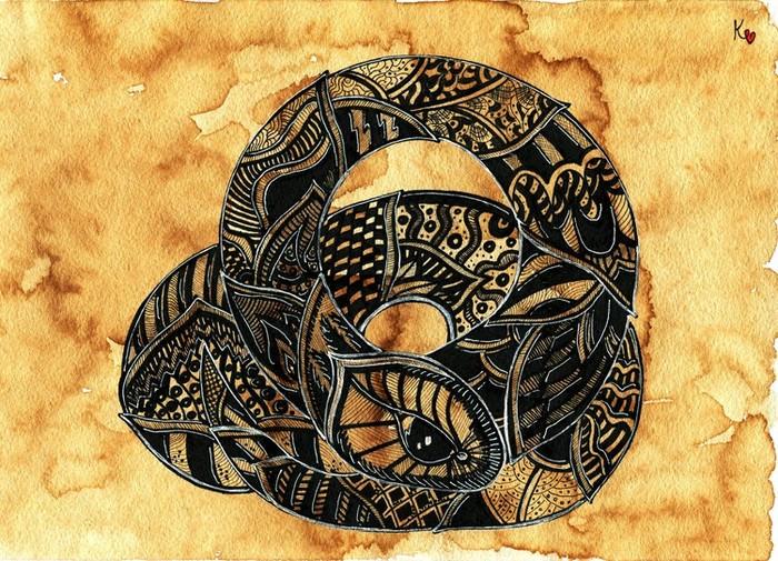 Змея графический рисунок 117