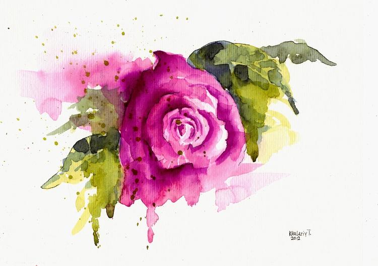 графика цветок: