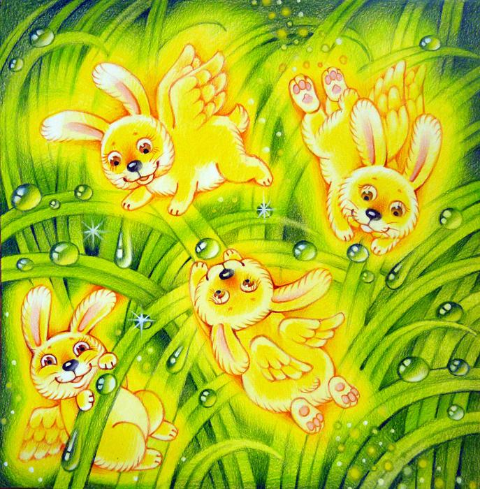 Картинка для детей солнечные зайчики на прозрачном фоне
