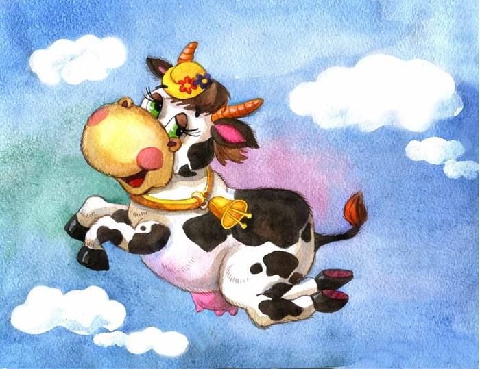корова картинки из книг