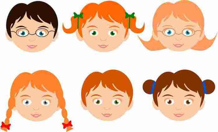 Рисунки лица ребенка для детей