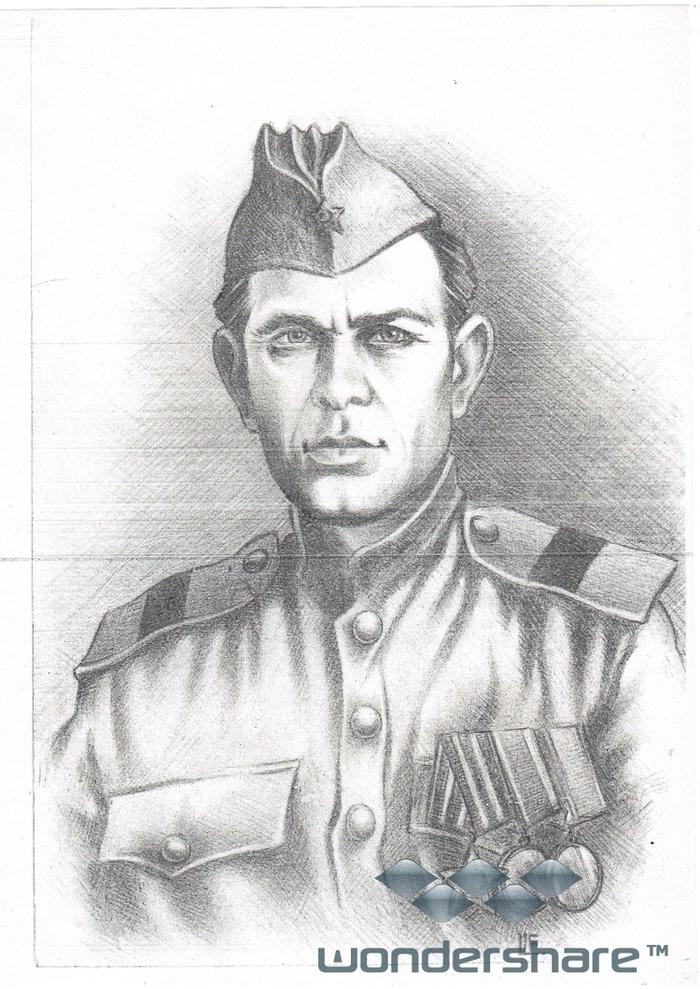 рисунки карандашом солдат вов территории