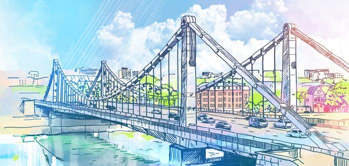 Мост в москве рисунок