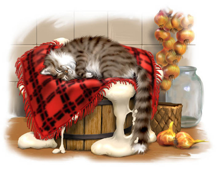 Кот иваныч какой рисунок является иллюстрацией к рассказу