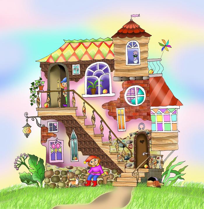 Картинки детские домиков